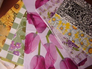 Napkins for collage...(read for my stash!)