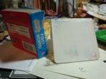 Micha sacrifices a book for the sake of art...